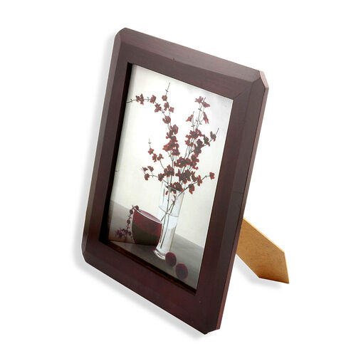 Mahogany Effect Octagon Photo Frame (Size 10 inch)