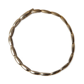 Bracelet (Size 8.5) in Yellow and White Gold Tone