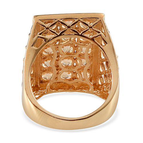 Signity Honey Topaz (Rnd) Ring in 14K Gold Overlay Sterling Silver 4.750 Ct.