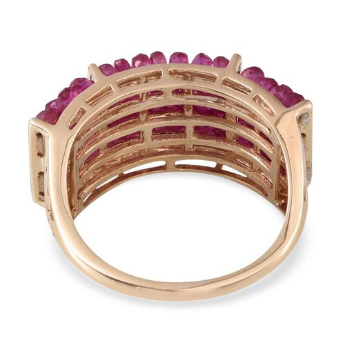 9K Y Gold Burmese Ruby (Rnd) Ring 15.000 Ct.