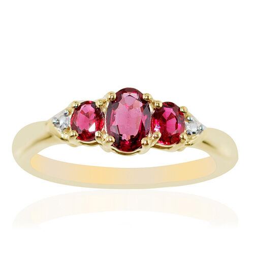 9K Y Gold Mahenge Spinel (Ovl) Ring  0.75 Ct.