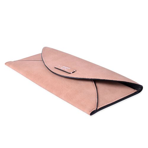 Set of 2 - TJC Light Pink Colour and Croc Embossed Dark Fuchsia Colour Wallet (Size 20.5x10 Cm and 20x10 Cm)