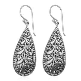 Royal Bali Collection Sterling Silver Hook Earrings, Silver wt 9.17 Gms.