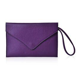 New Season YUAN COLLECTION Deep Purple Envelope Clutch/ Travel Pouch (Size 25.5x17 Cm)