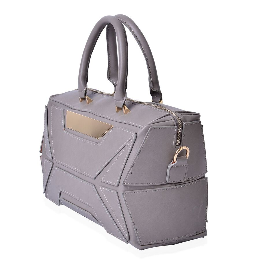 anissa grey colour tote bag size 32x20x17 cm tjc. Black Bedroom Furniture Sets. Home Design Ideas