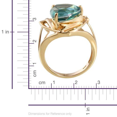 Peacock Quartz (Trl) Solitaire Ring in 14K Gold Overlay Sterling Silver 5.750 Ct.