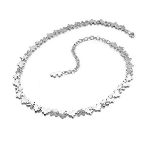 LucyQ Jigsaw Necklace (Size 20) in Sterling Silver 35.00 Gms.