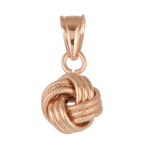 Close Out Deal Italian 9K R Gold 4 Way Knot Pendant