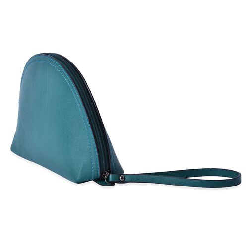 Green Colour Cosmetic Bag (Size 23x15.5x7 Cm)