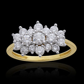 ILIANA 18K Y Gold IGI Certified Diamond (Rnd) (S I/G-H) Ring 1.000 Ct.