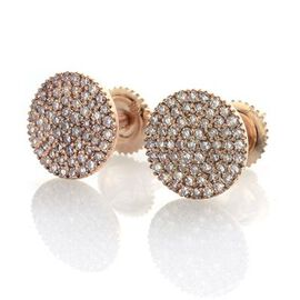 ILIANA 18K Rose Gold Natural Pink Diamond (Rnd) (SI) 0.500 Carat Stud Earrings (with Screw Back).