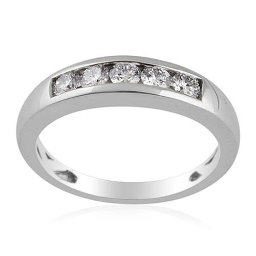 RHAPSODY 950 Platinum Diamond (Rnd) (Clarity VS Colour E-F) Ring  0.500 Ct.