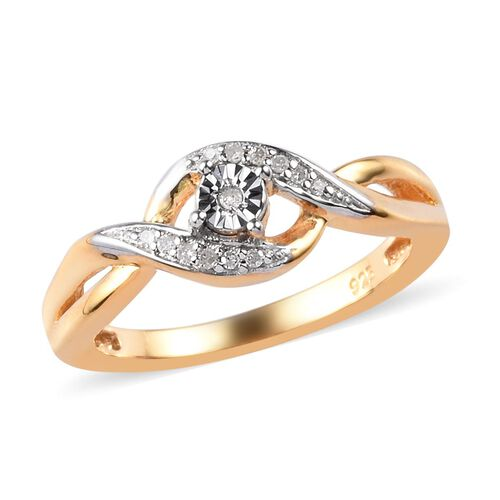 bypass promise silver ring in 14k gold overlay 0