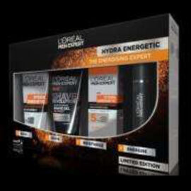 Loreal Men ExpertThe Hydra Energetic Gift Set Wash Shave and moisturise with the perfect daily regime Wake up Gel150ml Shave Revolution150ml Anti Fatigue 50ml