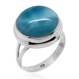 Royal Bali Collection Larimar (Rnd) Solitaire Ring in Sterling Silver 9.120 Ct.