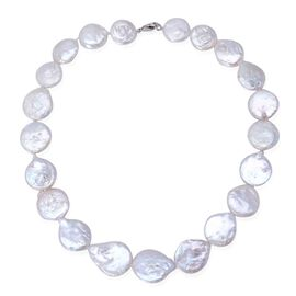 (Option 1) AA Keshi Pearl Necklace (Size 18) in Sterling Silver 30.000 Ct.