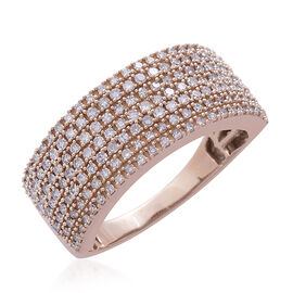 Exclusive Edition ILIANA 18K Rose Gold Natural Pink Diamond Ring 1.000 Ct. Gold Wt 6.60 Gms