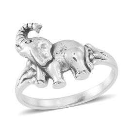 Thai Sterling Silver Elephant Ring, Silver wt 3.70 Gms.