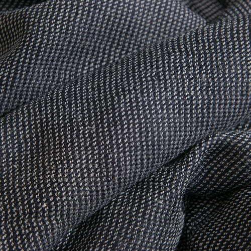 100% Cashmere Wool Black Colour Scarf with Fringes (Size 200x70 Cm)