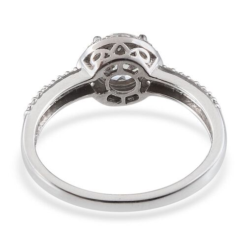 J Francis - Platinum Overlay Sterling Silver (Rnd) Ring Made With SWAROVSKI ZIRCONIA 1.456 Ct.