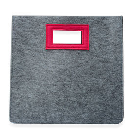 Grey and Pink Colour Felt Bag