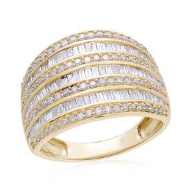 9K Y Gold SGL Certified Diamond (Bgt) (I3/G-H) Ring 1.000 Ct.Gold Wt 4.01 Gms.