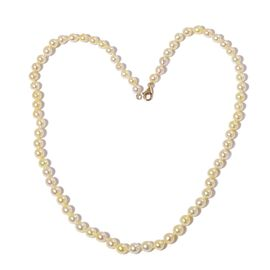 ILIANA 18K Y Gold Japanese Akoya Pearl (Rnd) Necklace (Size 18) 82.000 Ct.