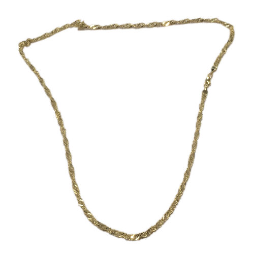 Ottoman Treasure 9K Yellow Gold Twisted Curb Chain (Size 20), Gold wt 2.75 Gram
