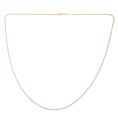 Close Out Deal 14K Gold Overlay Sterling Silver Chain (Size 30), Silver wt 3.30 Gms.