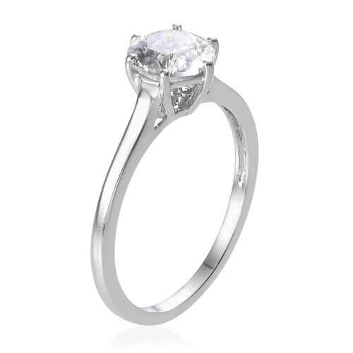 9K W Gold (Rnd) Solitaire Ring Made with SWAROVSKI ZIRCONIA