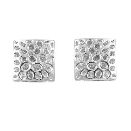 RACHEL GALLEY Sterling Silver Memento Diamond Cufflinks, Silver wt 5.45 Gms.