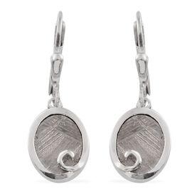 Meteorite (Ovl) Earrings in Platinum Overlay Sterling Silver 11.250 Ct.