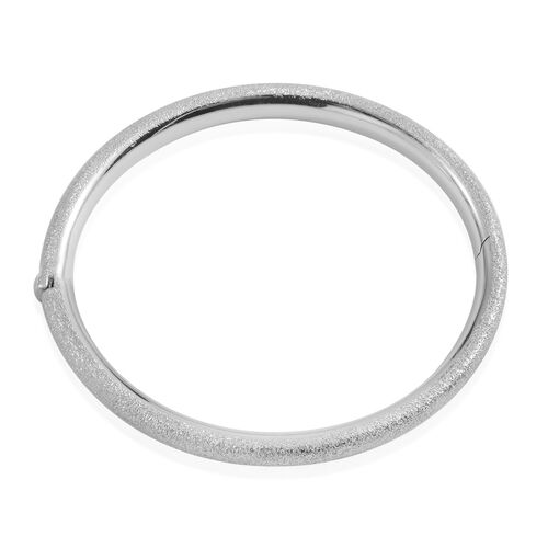 JCK Vegas Collection Sterling Silver Bangle (Size 7.5), Silver wt 14.00 Gms.