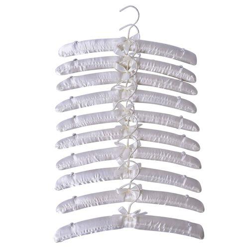 Set of 10 - White Colour Hanger (Size 38 Cm)