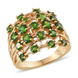 Russian Diopside (Rnd) Ring in 14K Gold Overlay Sterling Silver 3.000 Ct.