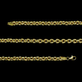 9K Y Gold Rain drop Necklace (Size 18), Gold wt 19.10 Gms.