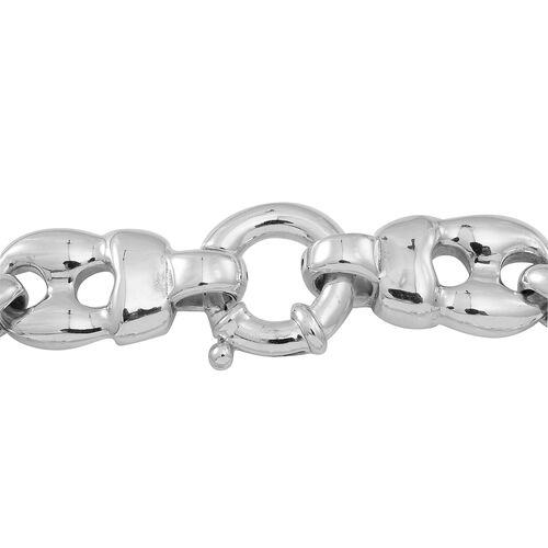 Statement Collection Sterling Silver Mariner Bracelet (Size 7), Silver wt 15.60 Gms.