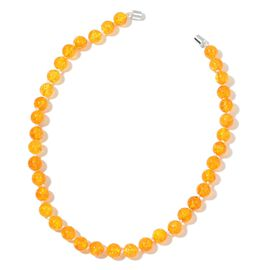 One Time Deal - Big Size Citrine Necklace (Size 18) in Rhodium Plated Sterling Silver with Magnetic Clasp 270.000 Ct.