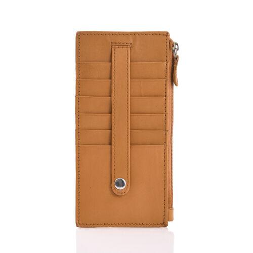 Genuine Leather RFID Blocker Tan Colour Ladies Wallet