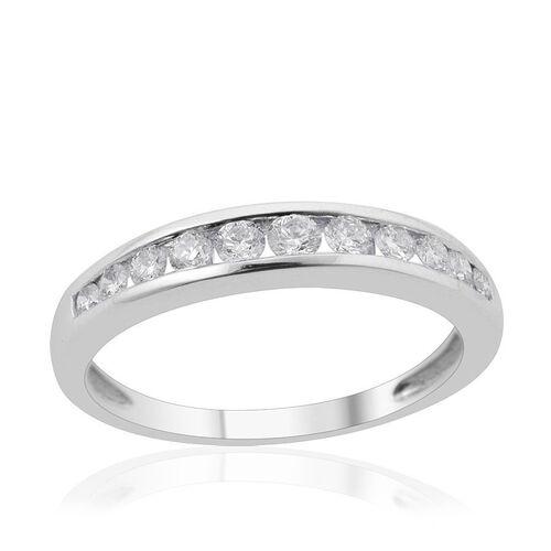 RHAPSODY 950 Platinum IGI Certified (VS/E-F) Diamond (Rnd) Half Eternity Band Ring 0.500 Ct.