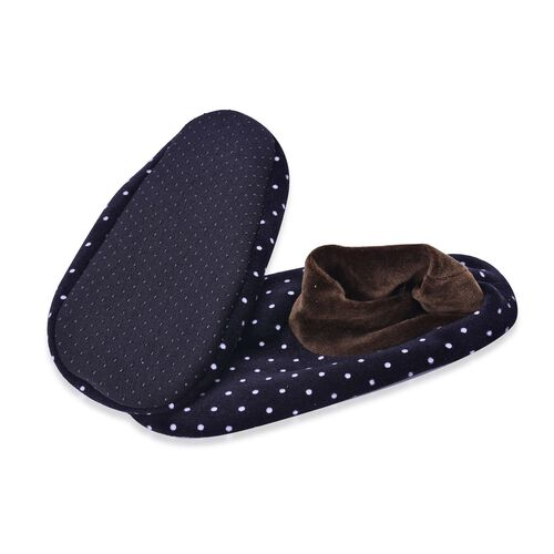 Set of 3 - Grey and Black Dotted Print 100% Polyester Fleece Sherpa Set  Bootie Socks (Size one for all)