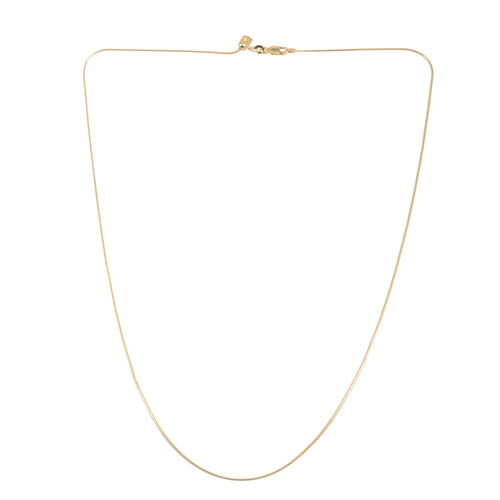 Close Out Deal 14K Gold Overlay Sterling Silver Adjustable Chain (Size 24), Silver wt 3.80 Gms.