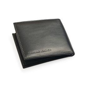 Genuine Leather Black Colour RFID Blocker Bi-Fold Men Wallet with Card Holder (Size 11x9 Cm)