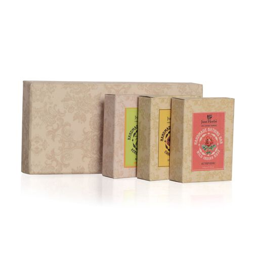 EXCLUSIVE TO TJC - Just Herbs Set of 3 - Kerala Coconut, Coorgi Coffee and Wild Indian Coconut Soap (100 Gm)