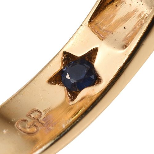 GP Sky Blue Topaz (Rnd 0.50 Ct), Hebei Peridot, Rhodolite Garnet, Amethyst, Mozambique Garnet, Russian Diopside and Multi Gem Stone Ring in 14K Gold Overlay Sterling Silver 4.000 Ct.