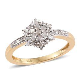 Diamond (Rnd) Ring in 14K Gold Overlay Sterling Silver 0.250 Ct.