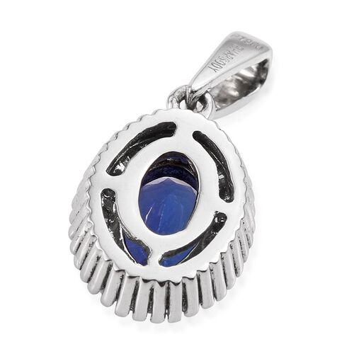 RHAPSODY 950 Platinum AAAA Tanzanite (Ovl 1.25 Ct), Diamond Pendant 1.500 Ct.