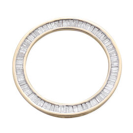 9K Y Gold SGL Certified Diamond (Bgt) (I3/ G-H) Circle Pendant 1.000 Ct.
