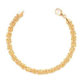 JCK 2017 Collection - Italian Hand Made - 9K Y Gold Byzantine Bracelet (Size 8.5), Gold Wt. 4.36 Gms.