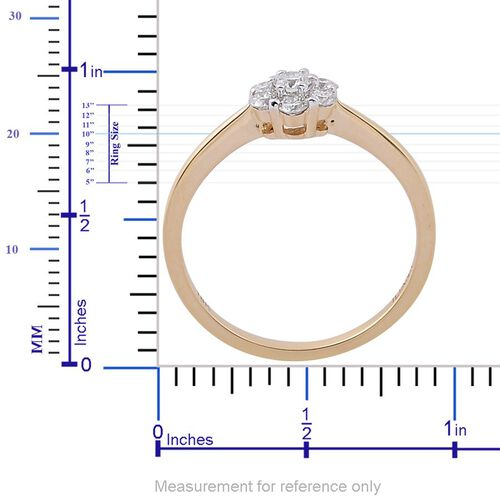 ILIANA 18K Yellow Gold IGI Certified Diamond (Rnd) (SI/G-H) 7 Stone Ring 0.500 Ct.